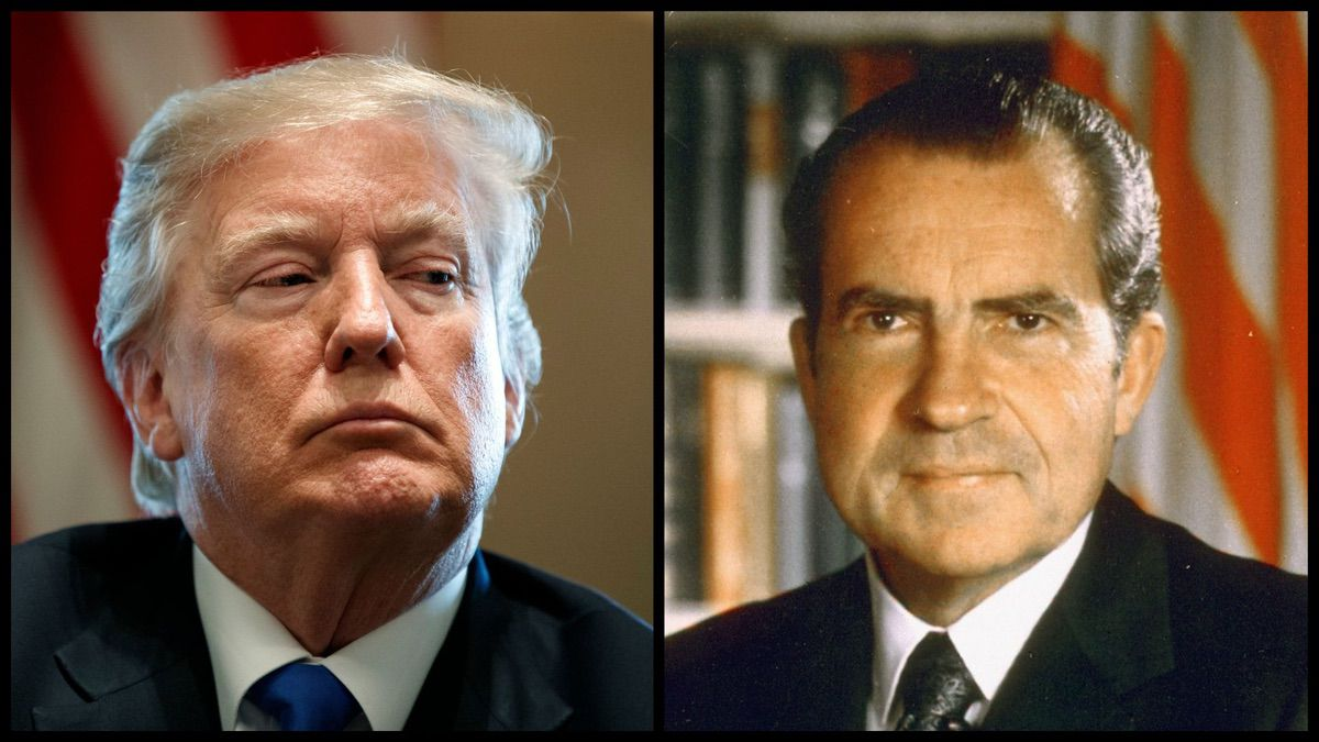President Donald Trump and President Richard Nixon (AP/Official White House Photo)