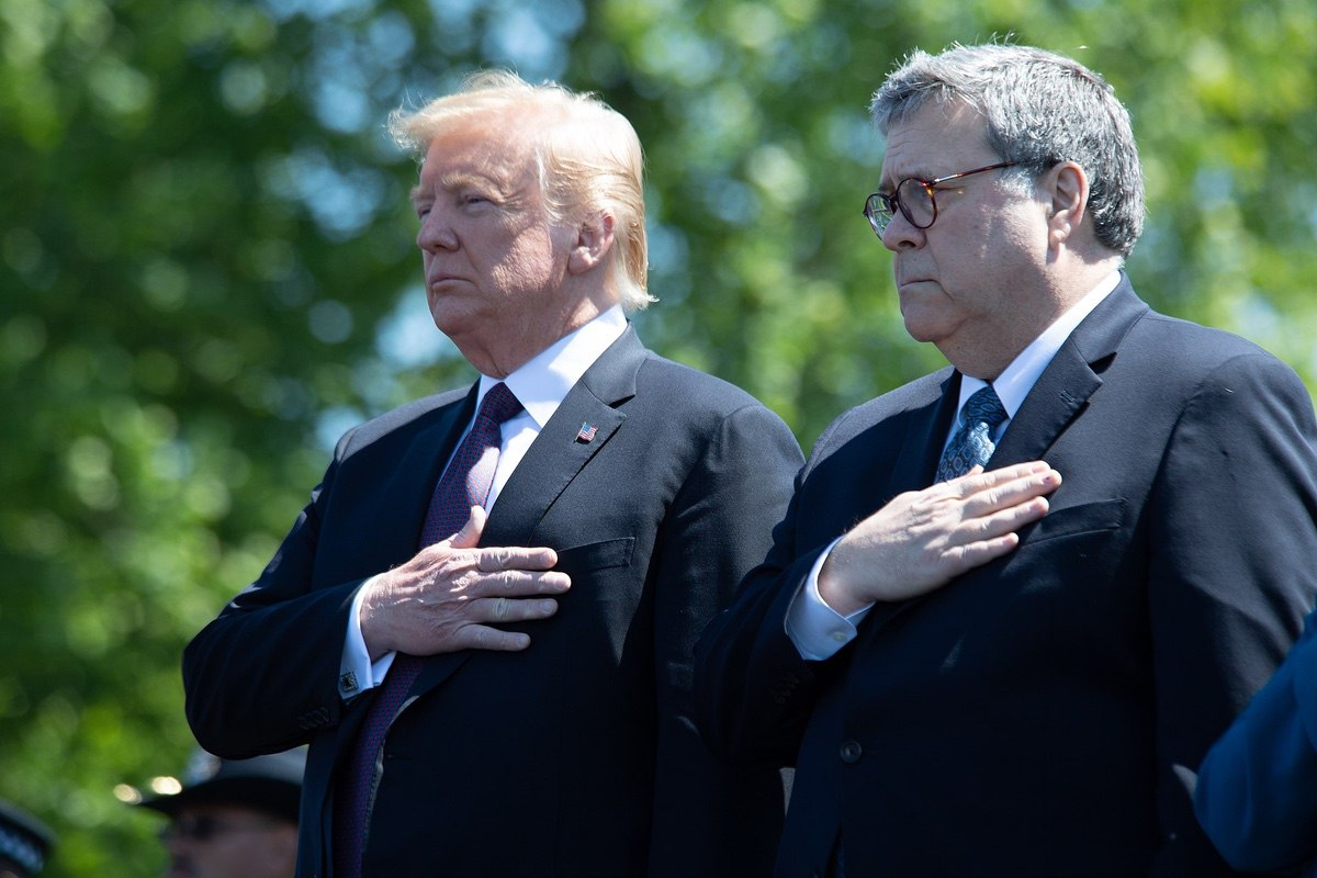 President Donald Trump and Attorney General William Barr - May 15, 2019 (Office of Public Affairs from Washington DC)