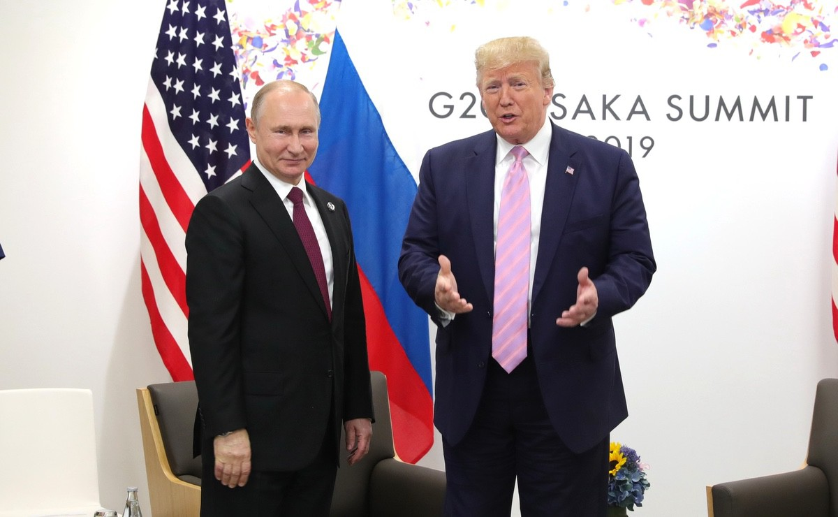 Russian President Vladimir Putin and US President Donald Trump meeting at the G20 summit – 28 June 2019 (Source: The Kremlin)