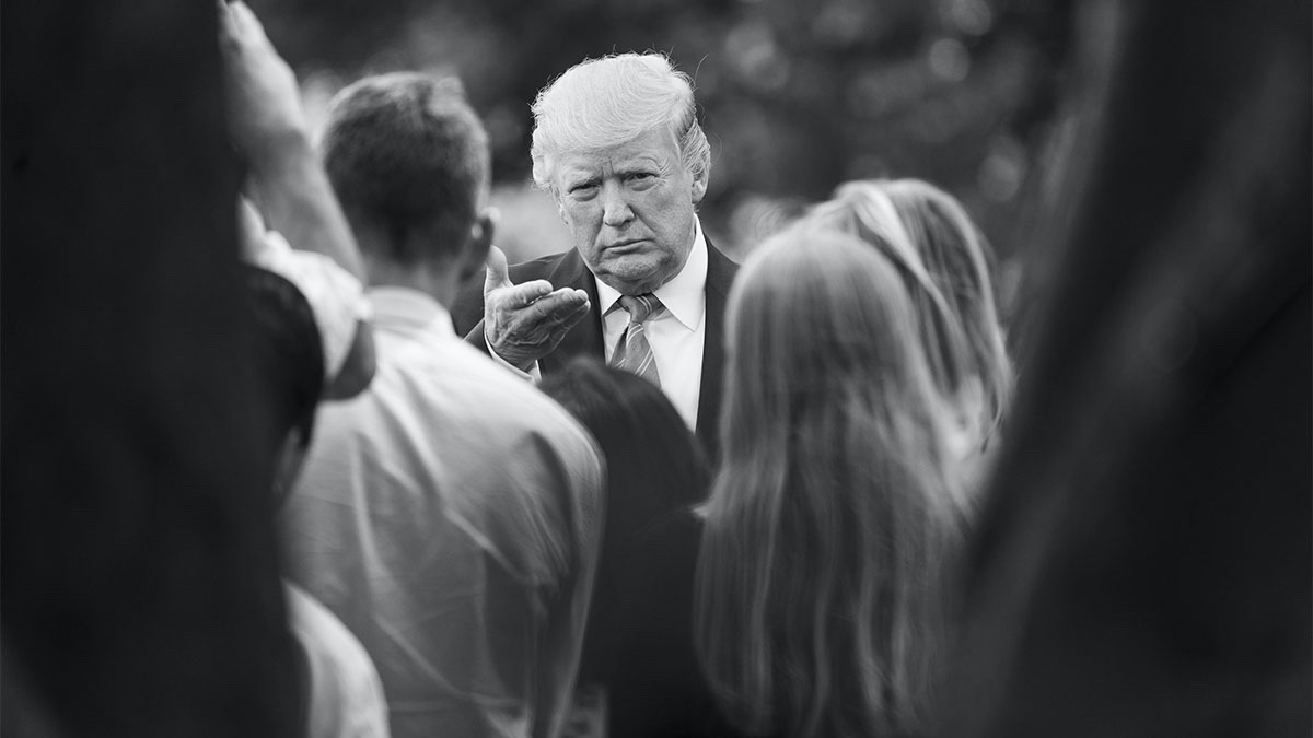President Donald J. Trump speaks with reporters on the South Lawn driveway of the White House Friday, Aug. 2, 2019. (Official White House Photo by Joyce N. Boghosian)