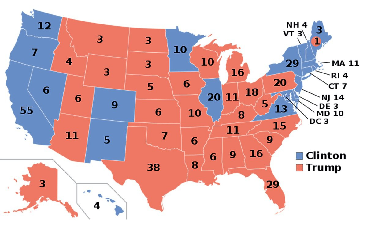 The final 2016 electoral map