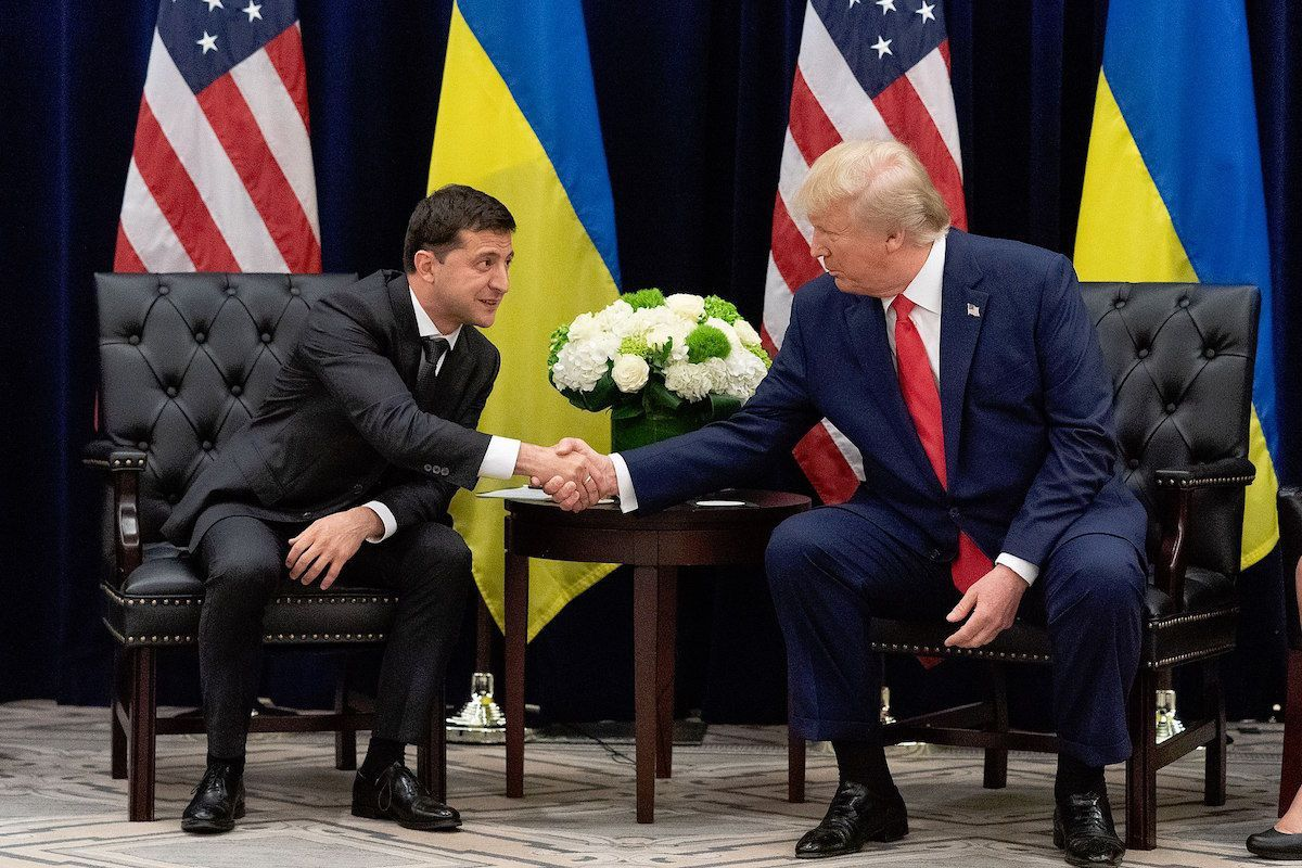 President Volodymyr Zelensky meets with President Donald Trump at the UN General Assembly - September 25, 2019 (Source: The Presidential Office of Ukraine)