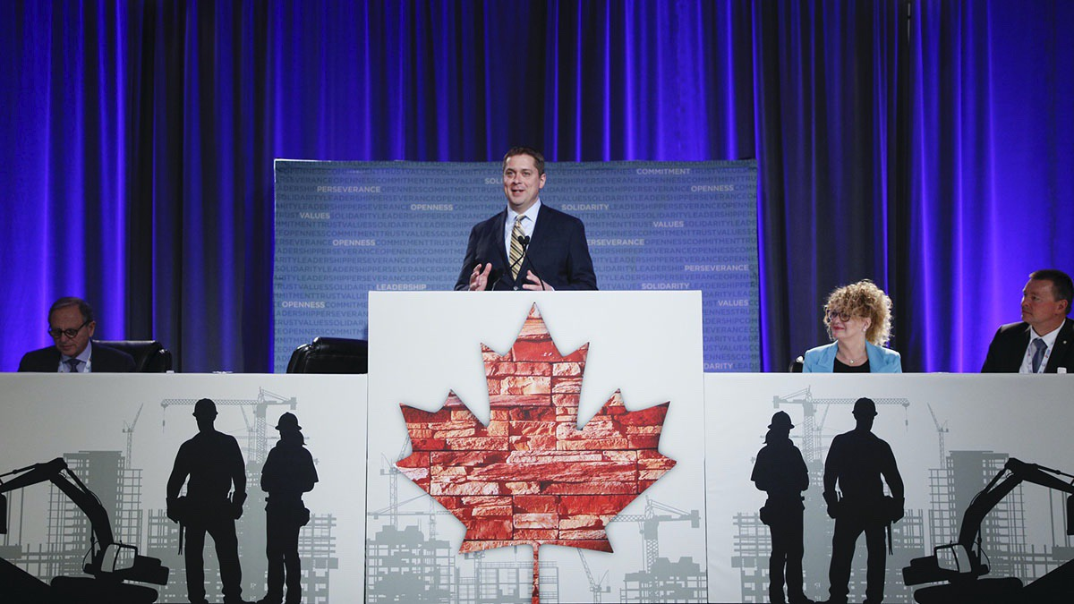 Conservative Leader Andrew Scheer speaks at Canada's Building Trades Unions on April 30, 2019