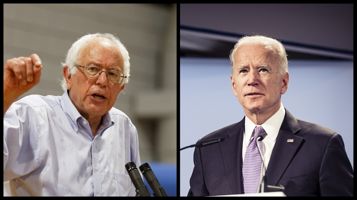 Bernie Sanders (Michael Vadon/Creative Commons), Joe Biden (Kuhlmann/MSC/Creative Commons)