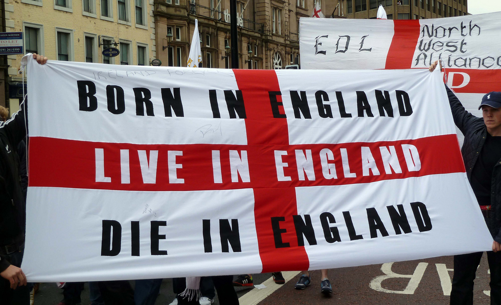 English Defence League march in Newcastle – May 2018 (Gavin Lynn/Creative Commons License)