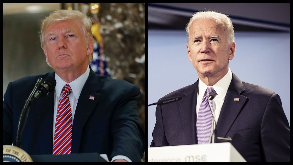 President Donald Trump (AP) and former Vice President Joe Biden (Kuhlmann/MSC/Creative Commons)