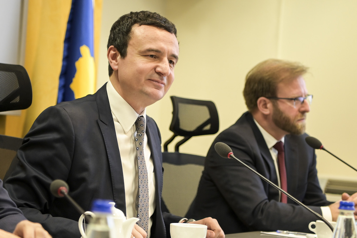 Albin Kurti during the first meeting of the Government of the Republic of Kosovo – February 4, 2020 (Office of the Prime Minister of the Republic of Kosovo)