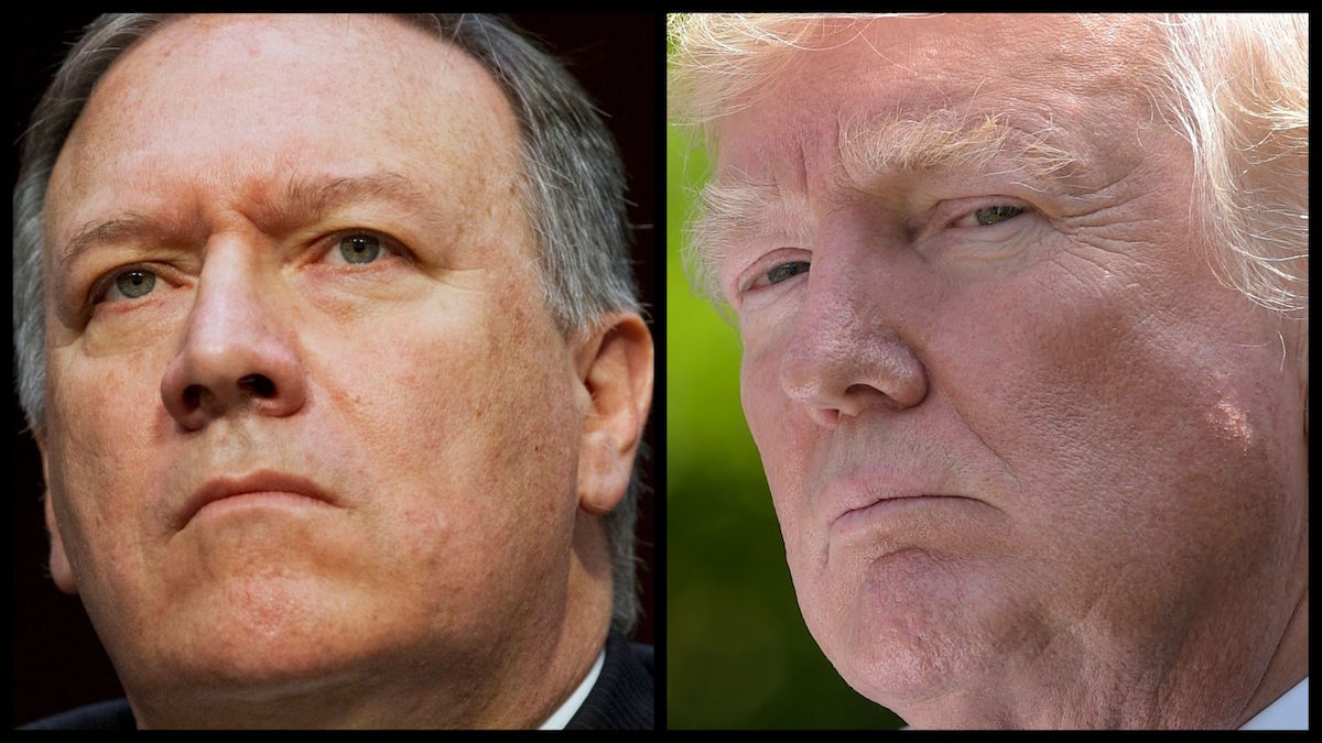 Secretary of State Mike Pompeo and President Donald Trump (AP)