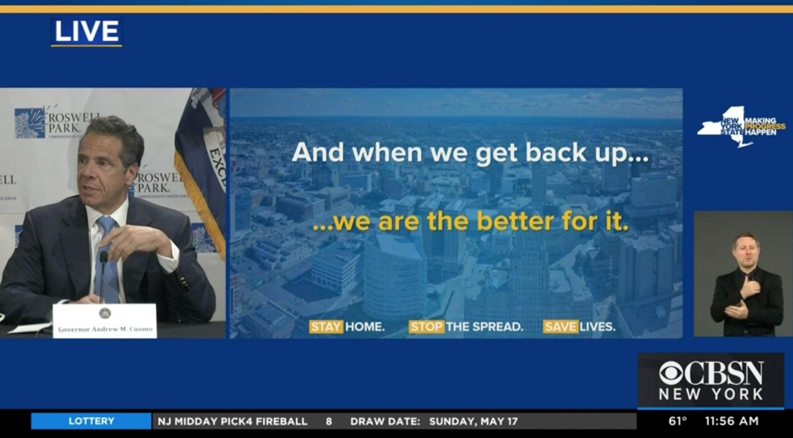 Screen shot of May 18th briefing.