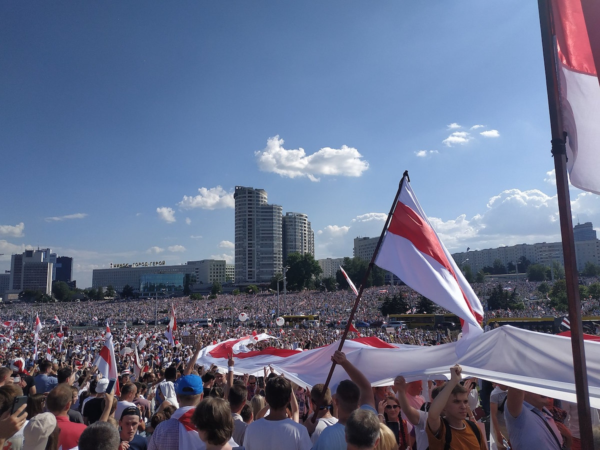 Protests in Minsk (Belarus) – August 16, 2020. (Максим Шикунец/CC BY-SA)
