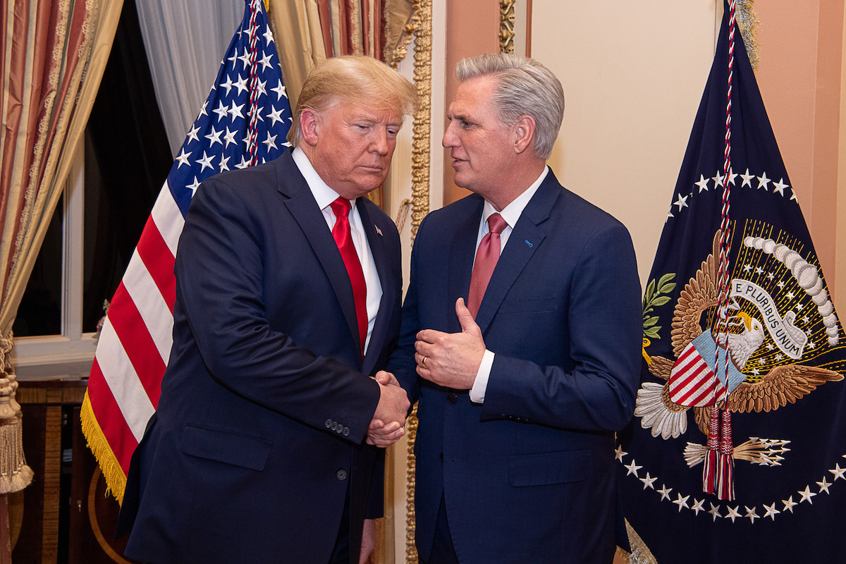President Donald Trump and House Minority Leader Kevin McCarthy (R-CA) – February 4, 2020. (Source: Kevin McCarthy)