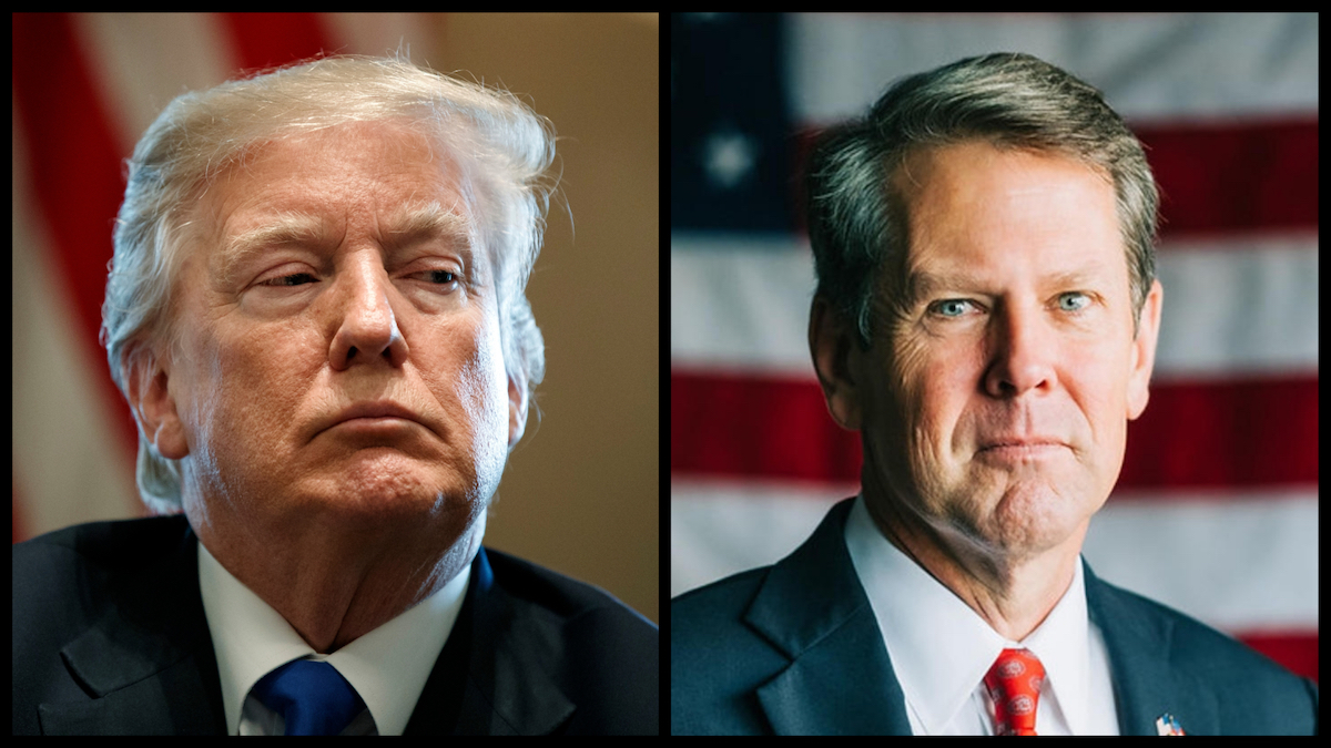 Donald Trump (AP) and Georgia Governor Brian Kemp (Official Photo)