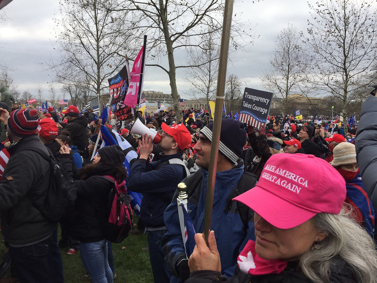 Crowd of Trump supporters marching on the US Capitol on 6 January 2021, ultimately leading to the building being breached and several deaths. (TapTheForwardAssist/CC BY-SA 4.0 via Wikimedia Commons)