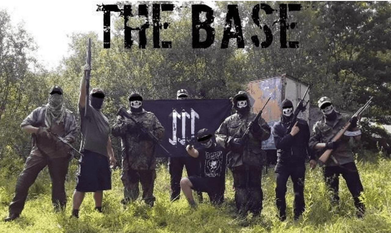 A propaganda photoshoot from The Base.