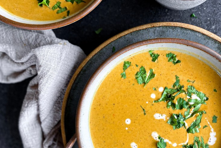 Roasted Carrot & Tahini Soup