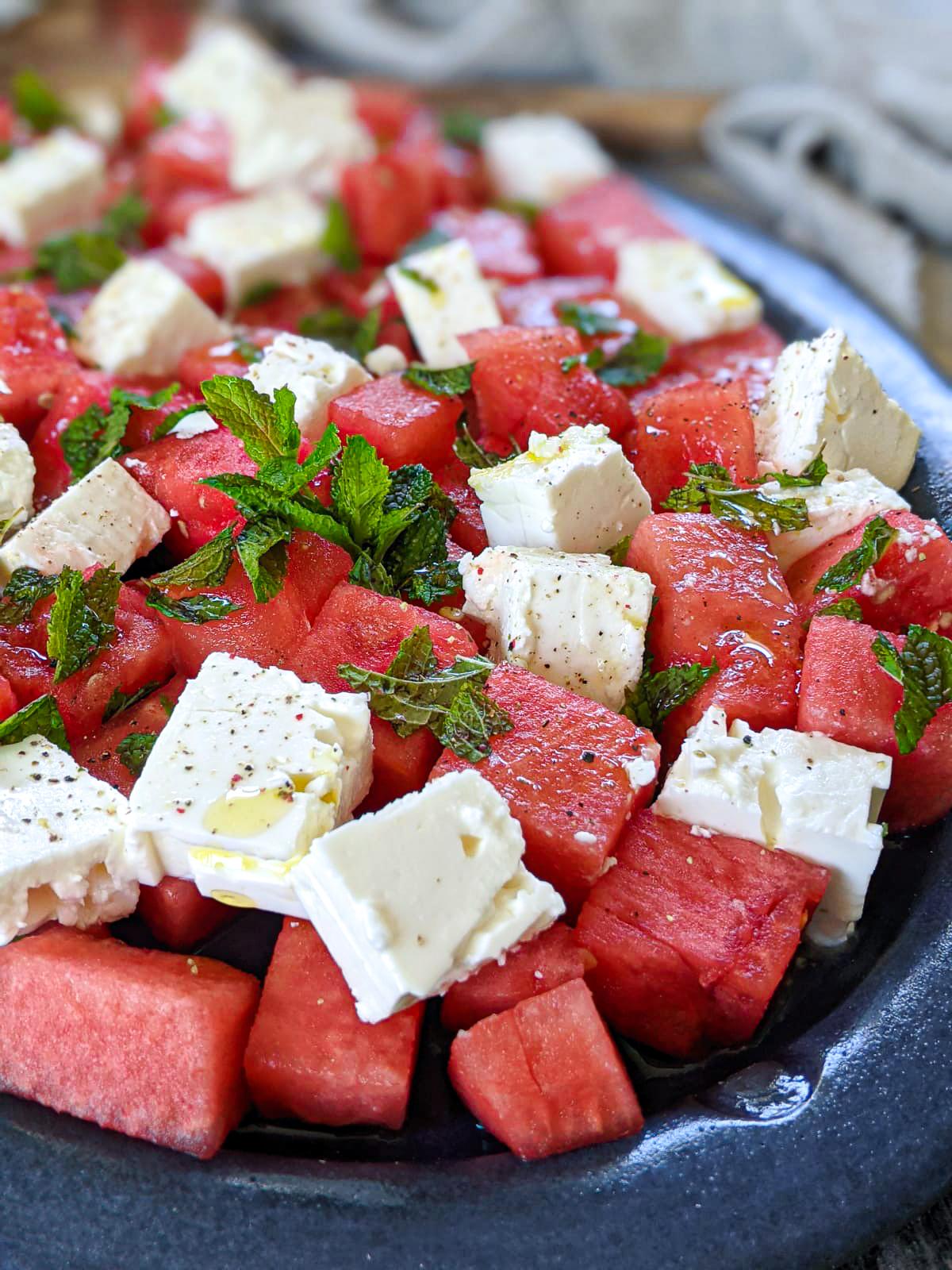 Watermelon Mint Feta Salad