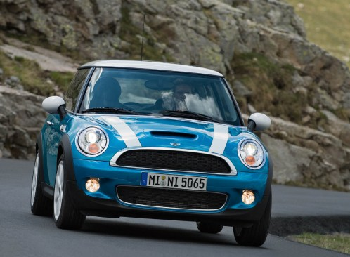 The front of the new 2007 MINI Cooper S