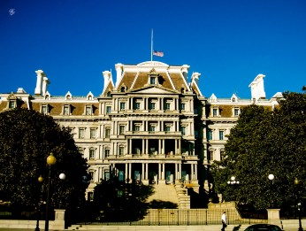 Executive Office Building, old entrance with stairway, Washington, DC, USA.