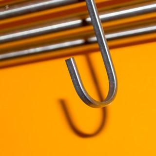 Stainless steel hook.