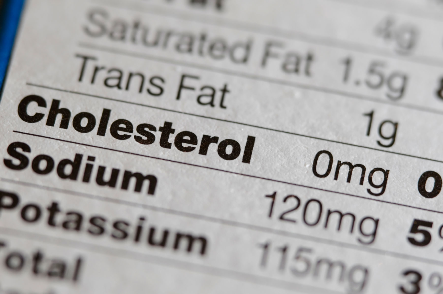 Sodium chart cholesterol and trans fats