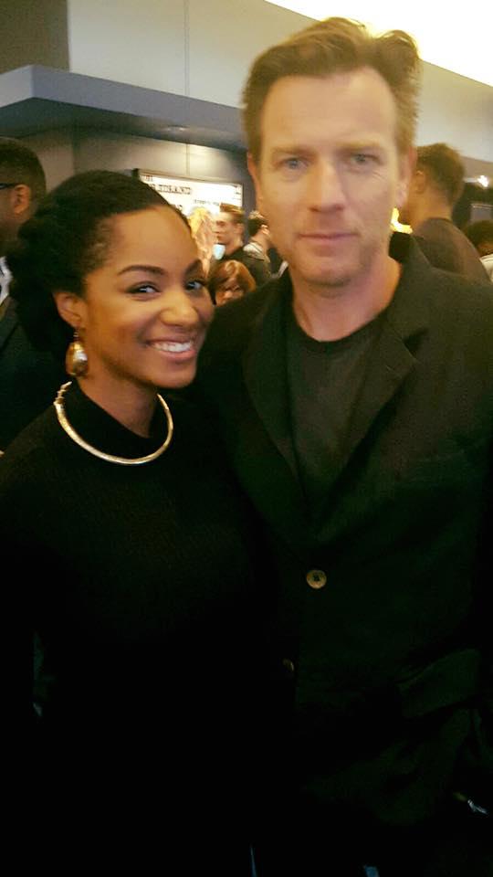 Chanelle Posing with Ewan McGregor