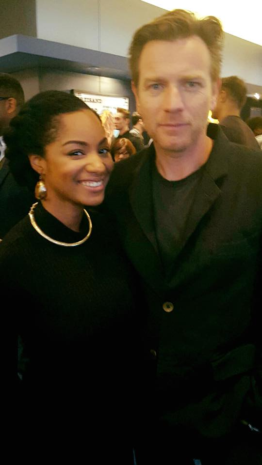 Chanelle Posing with Ewan McGregor