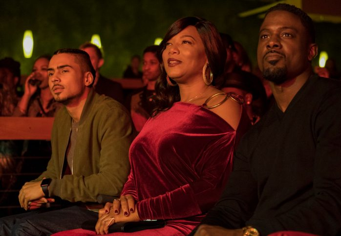 "STAR: Pictured L-R: Quincy Brown, Queen Latifah and guest star Lance Gross in the ""Climax"" episode of STAR airing Wednesday, Dec. 13 (9:00-10:00 PM ET/PT) on FOX. ©2017 Fox Broadcasting Co. CR: Wilford Harewood/FOX"