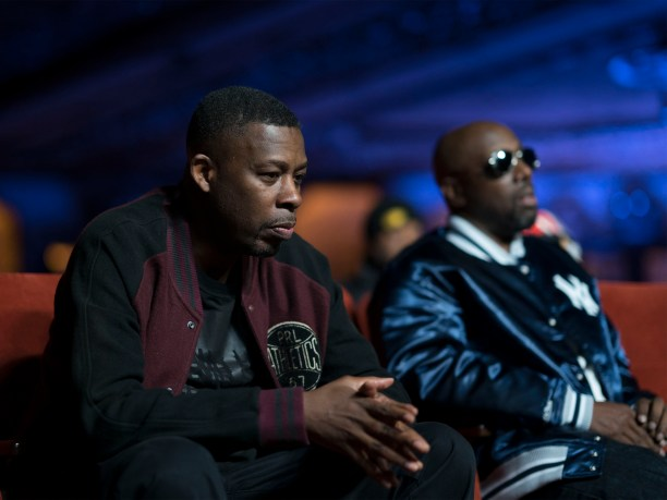 (L-R): GZA and Inspectah Deck in WU-TANG CLAN: OF MICS AND MEN. Photo Credit: Sue Kwon/courtesy of SHOWTIME.