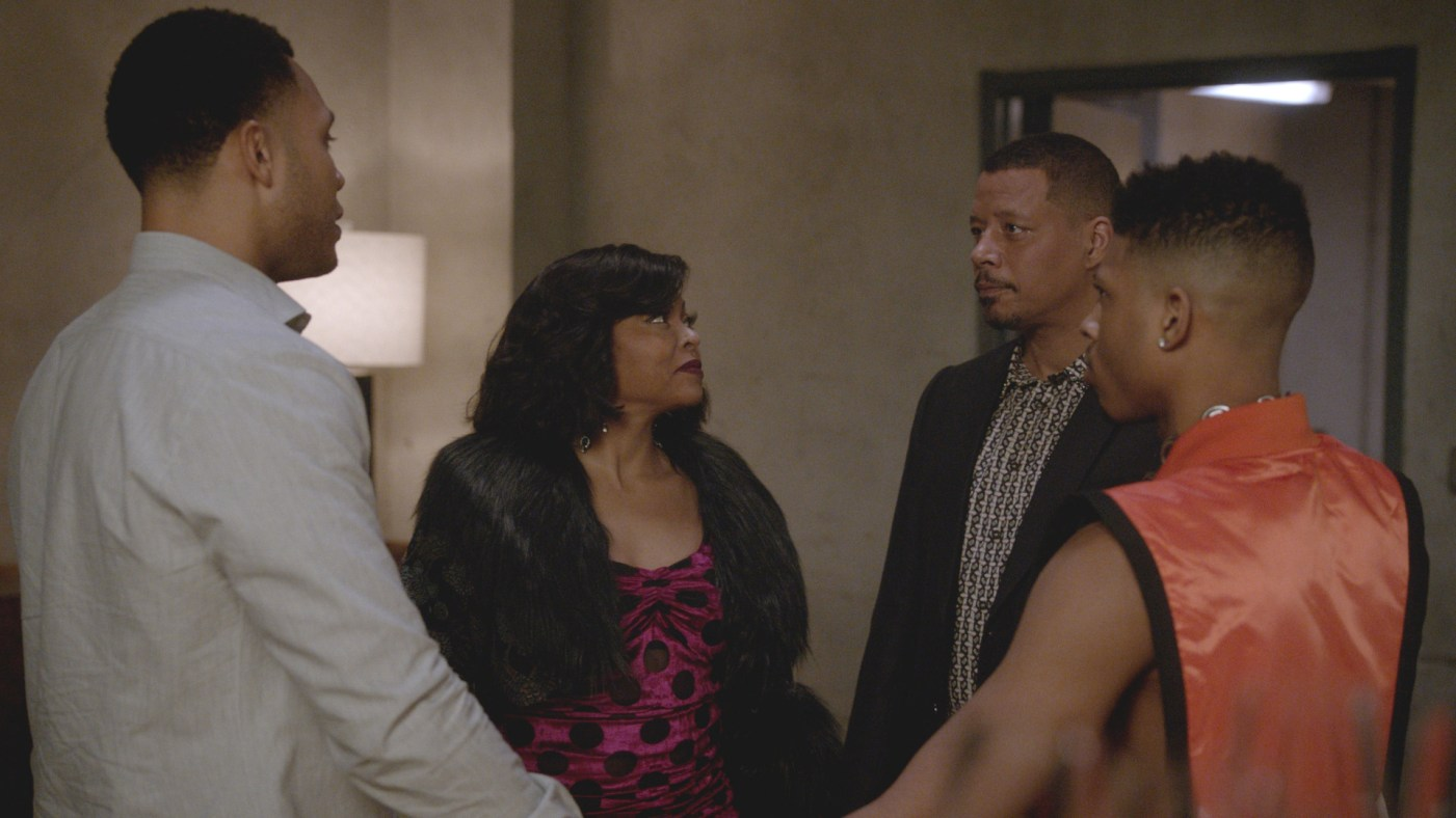 "EMPIRE: L-R: Trai Byers, Taraji P. Henson, Terrence Howard and Bryshere Y. Gray in the ""My Fate Cries Out"" episode of EMPIRE airing Wednesday, May 1 (8:00-9:00 PM ET/PT) on FOX. ©2019 Fox Media LLC CR: Chuck Hodes/FOX."
