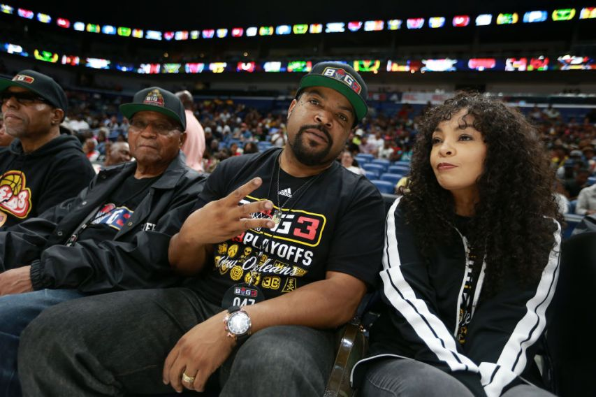 NEW ORLEANS, LOUISIANA - AUGUST 25: Ice Cube looks on during the BIG3 Playoffs at Smoothie King Center on August 25, 2019 in New Orleans, Louisiana. (Photo by Sean Gardner/BIG3 via Getty Images)