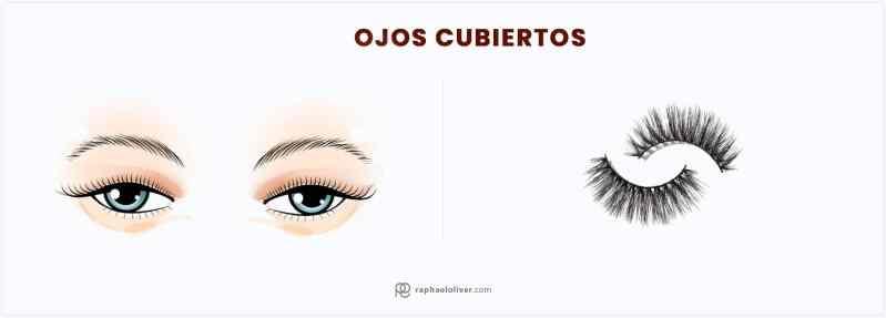 pestañas postizas para ojos cubiertos