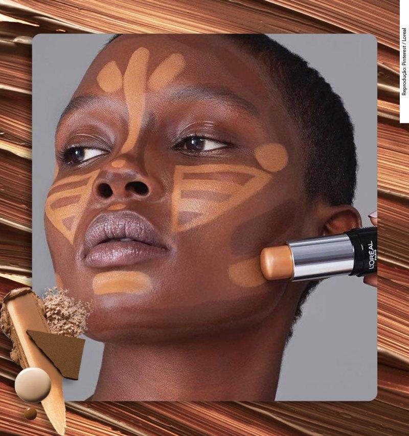 Como fazer contorno em pele negra escolhendo os tons corretos