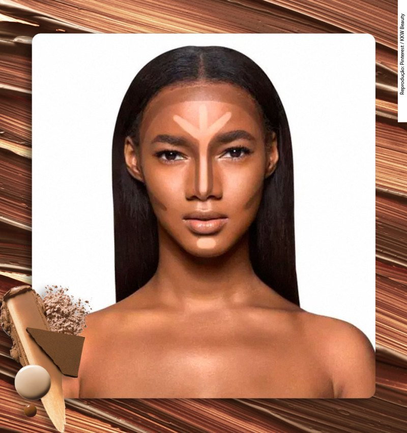 Donde aplicar el contorno en la piel negra