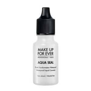 Make your foundation waterproof with Aqua Seal from Makeup Forever.