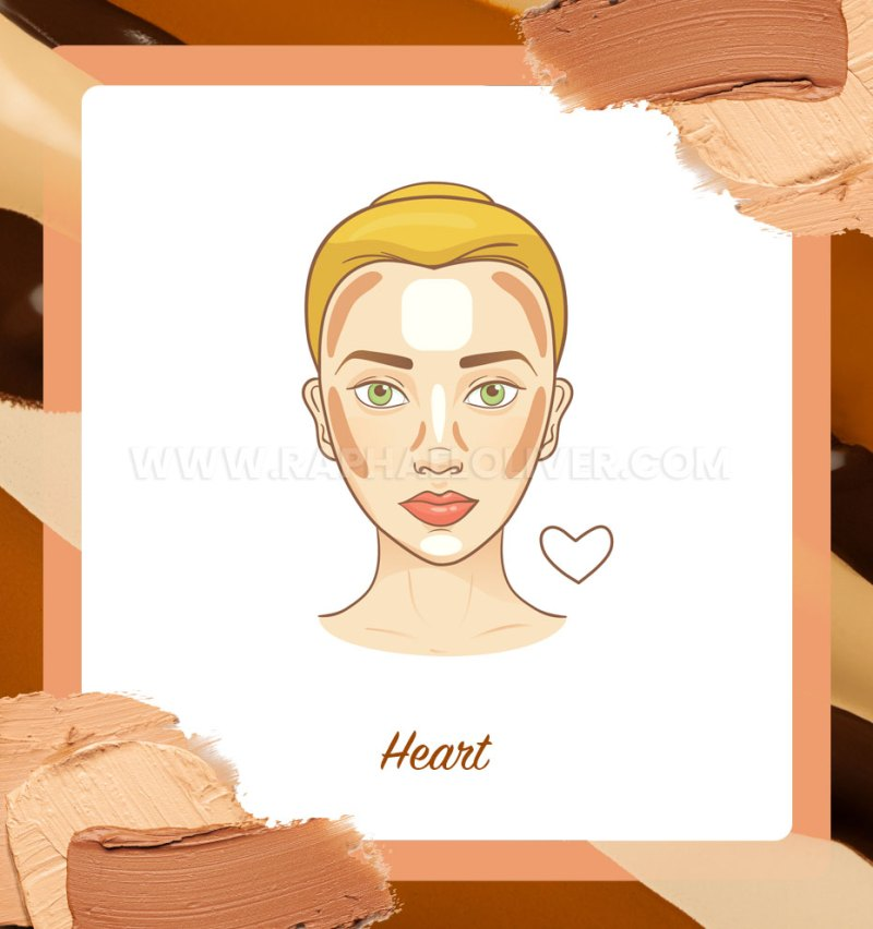 How to apply contour on heart face