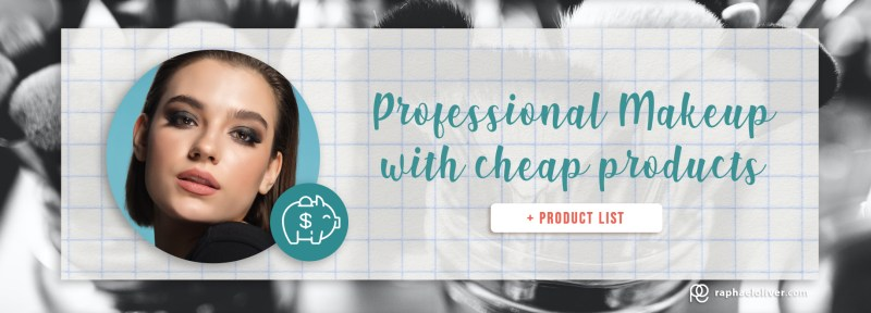 Professional makeup with cheap products + product list - Raphael Oliver
