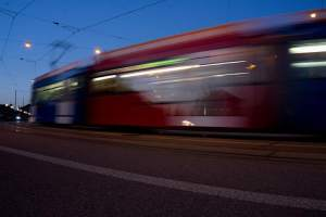 Tram in der Museumsnacht Bern