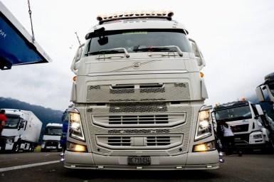 Lastwagen am Truckerfestival in Interlaken