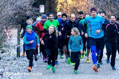 Start vom Bremer Run im Dezember 2016 im Bremgarten-Wald