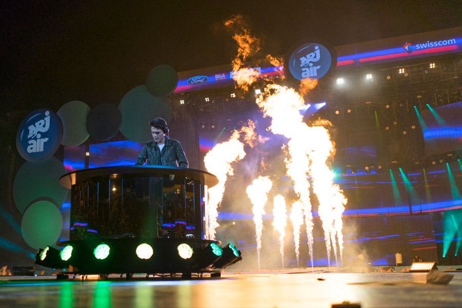 DJ Kungs am Energy Air 2016 mit Stichflammen