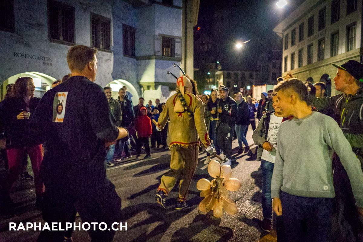 Bilder vom Morgen Fulehung-Brauchtum in der Altstadt von Thun