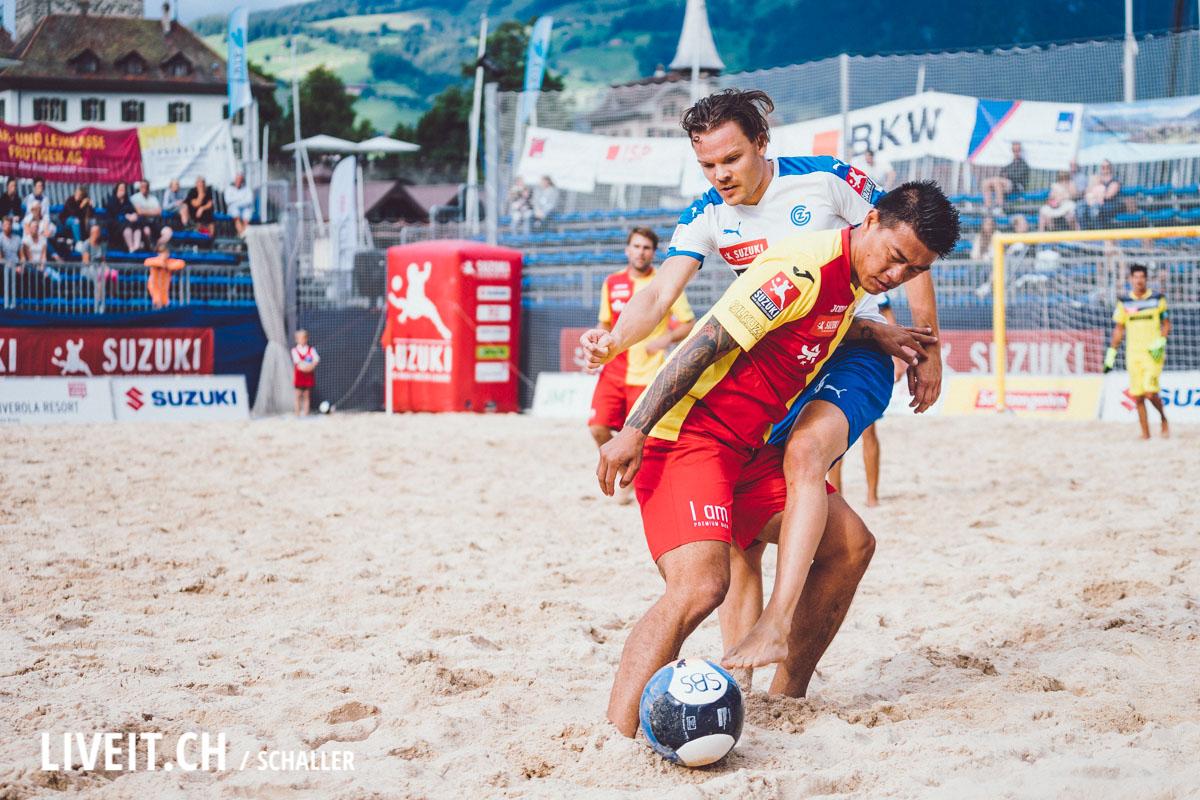 Beachsoccer Biel gegen GC Beacharena Spiez