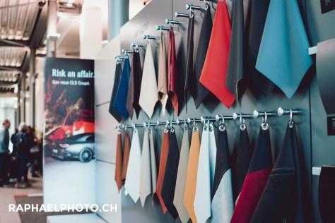 Materialienauswahl Mercedes Benz Merbag Retail