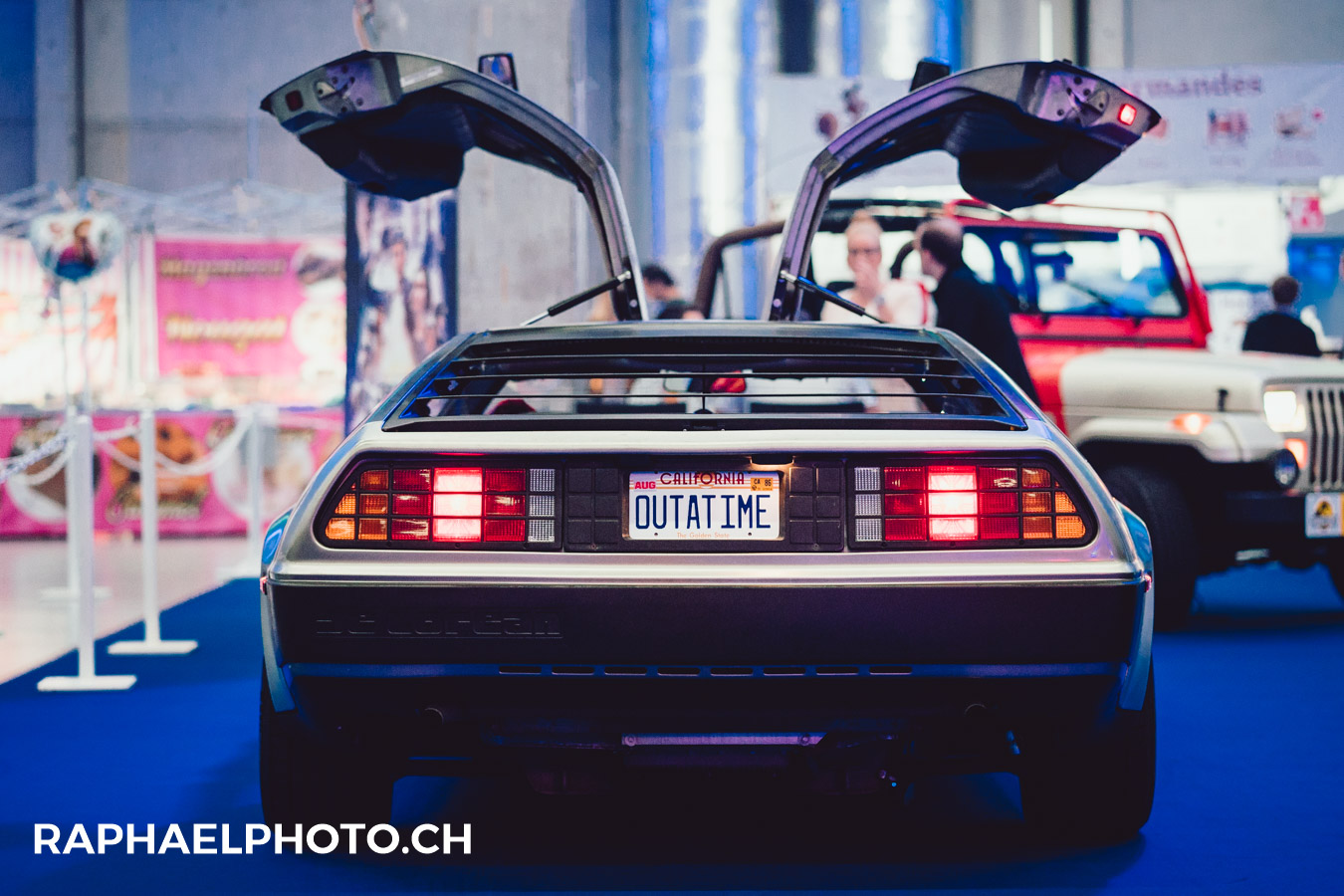 Delorean am Herofest 2018 in Bern - #backintime