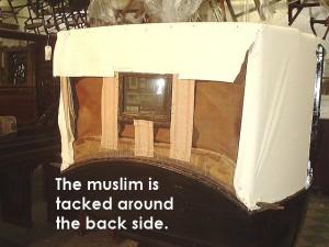Muslim tacked around the back