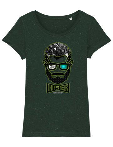 T-Shirt Femme Hipster Barbu et Tatoué, Tee-Shirt Créateur,Tee-Shirt Raphael Setiano.