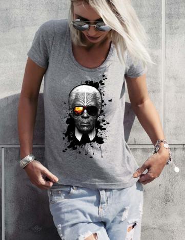T-Shirt Femme Karl Lagerfeld Pas Cher, Tee Shirt Karl Lagerfeld Choupette, T-shirt Raphael Setiano.