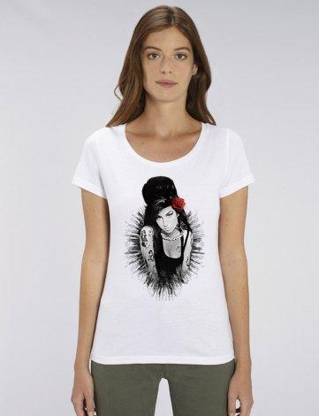 Tee Shirt Amy Winehouse, Tee Shirt Femme Pas Cher, T-Shirt Créateur, T-Shirt Raphael Setiano