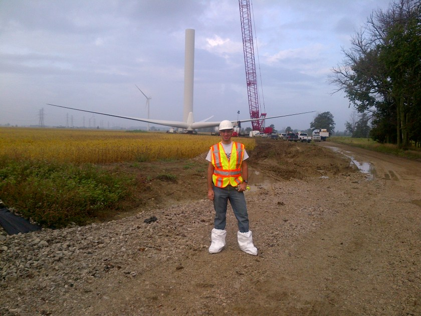 First day on the job site. My smurf boots help prevent mud from getting inside the parts I'm inspecting ;)