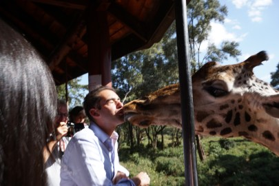 My first girlfriend in Nairobi - we could never see eye to eye!